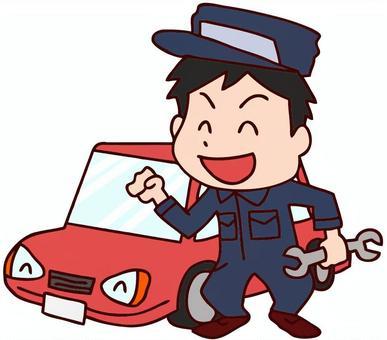 汽車修理工例證