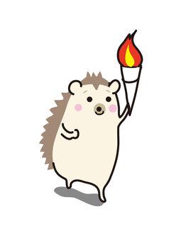刺猬火炬賽跑者