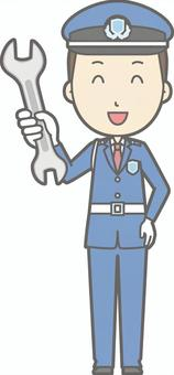 Security guard - spanner - whole body