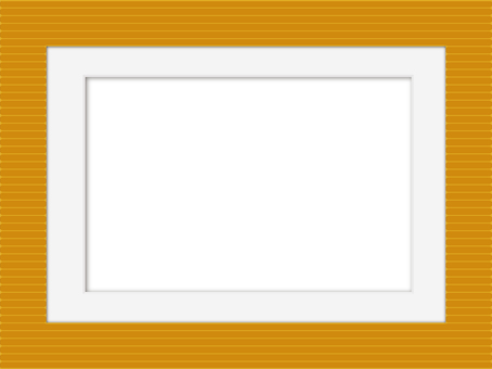 條紋圖案和白色啞光相框