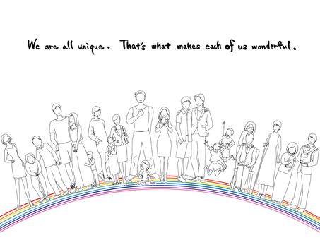 多樣性_個性與聯繫_在彩虹上