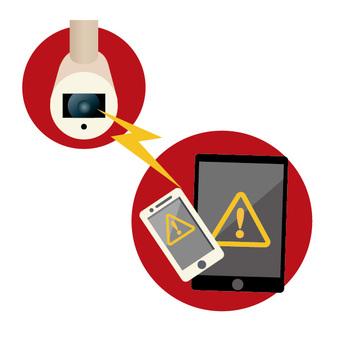安全攝像機和平板電腦