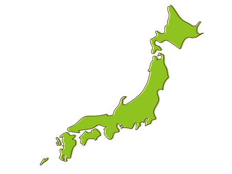 日本的鬆散地圖大致繪製