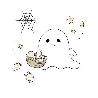 おばけ_お菓子_ハロウィン