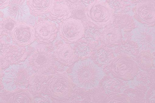 Metallic pink flower background