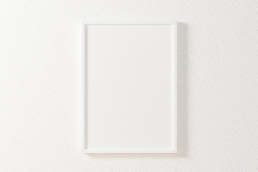 White A4 picture frame mockup 3DCG