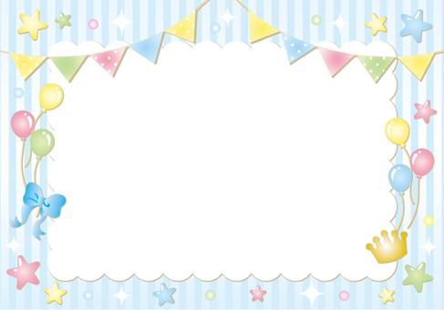Flag star stripe frame (blue)