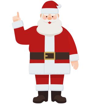 聖誕老人指點姿勢