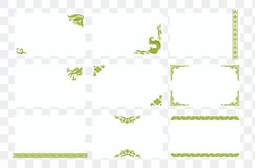 Asian design business card 02 (green)