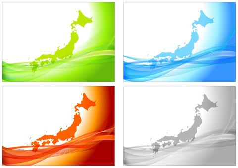 日本和多彩的數字背景框架集