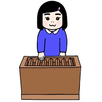 神社の参拝作法:お賽銭を入れる