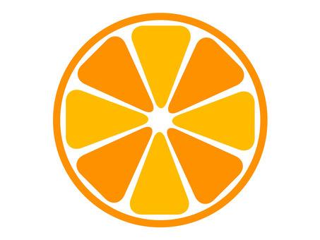 橙色橫截面 4