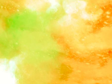 橙色和黃色綠色閃光紋理背景