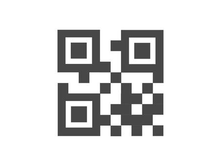 QR code style illustration
