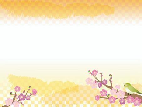 日式_梅花和鶯1