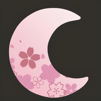新月形的春天形象