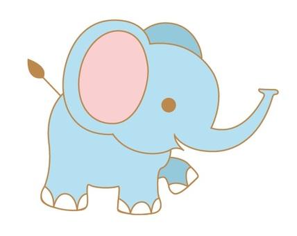 動物圖大象棕色