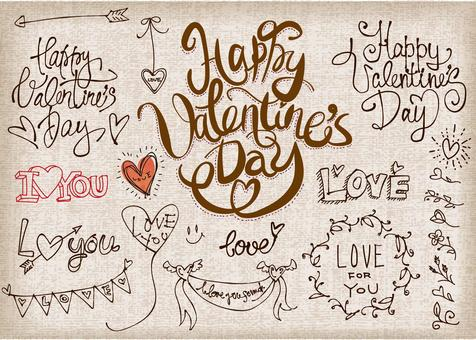 Illustration parts that can be used for Valentine's Day