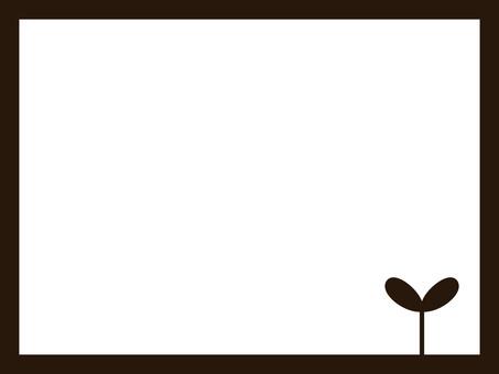 프레임 17 (후타바 · 진한 갈색)