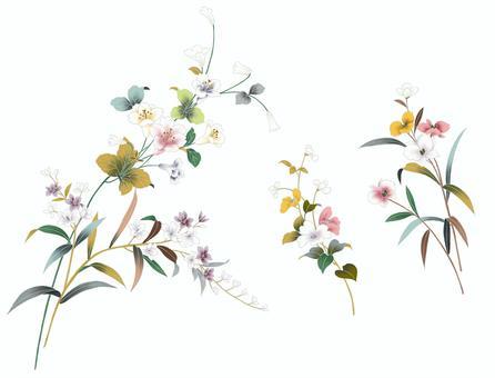 花のパーツ素地セット