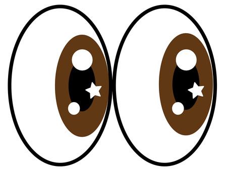 Glittering eyes Brown eyes