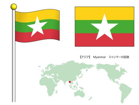 Flag vector 19_Myanmar_CS3