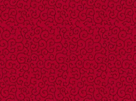 당초 문양의 배경 (진홍색)
