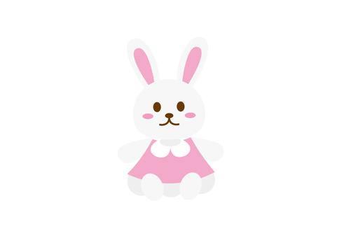 無線兔毛絨玩具