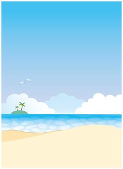 Tropical sea beach background