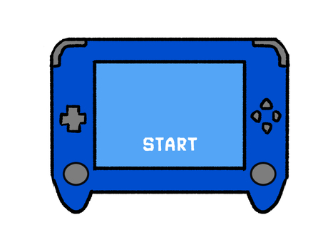 Game console blue