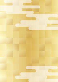 Golden foil checkered background - vertical