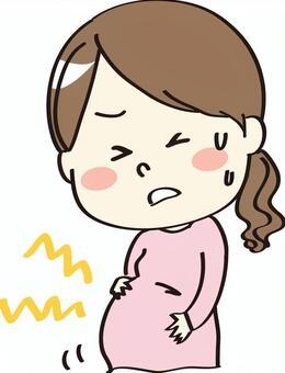 Pregnant woman hurts