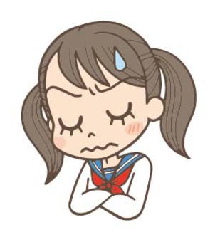 Girls junior high school student worry