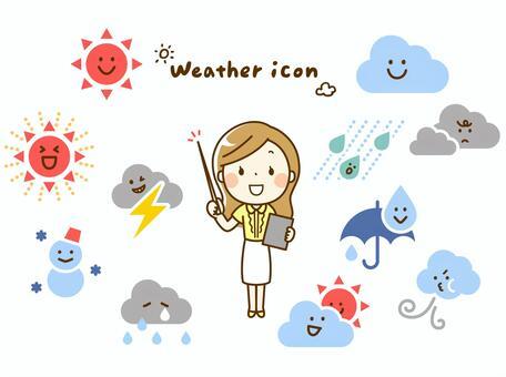 お天気アイコンと気象予報士