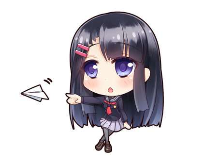 Uniforms girl with black hair _H2