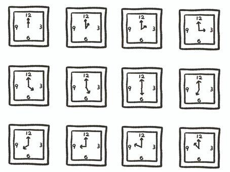 シンプル時計セット