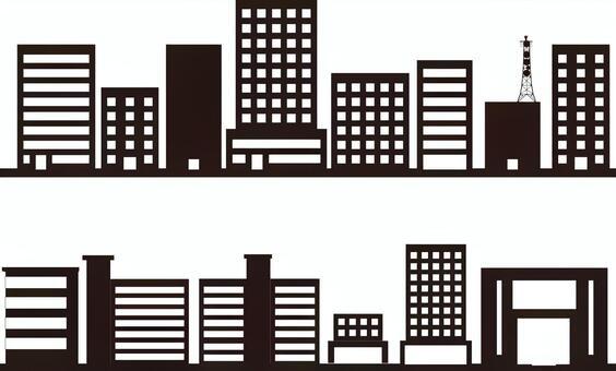 城市景觀影子系列建築