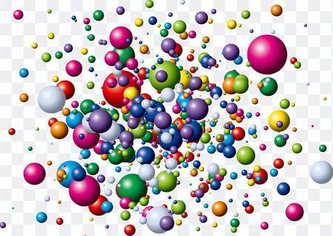 隨機彈出五顏六色的彩球