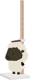 高度測量_羊_黑色
