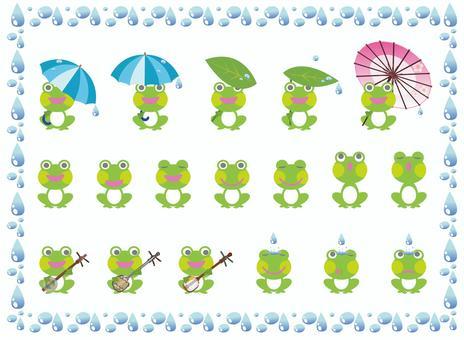 Frog Illustration Association Set