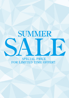 Summer SALE promotional leaflet poster DM
