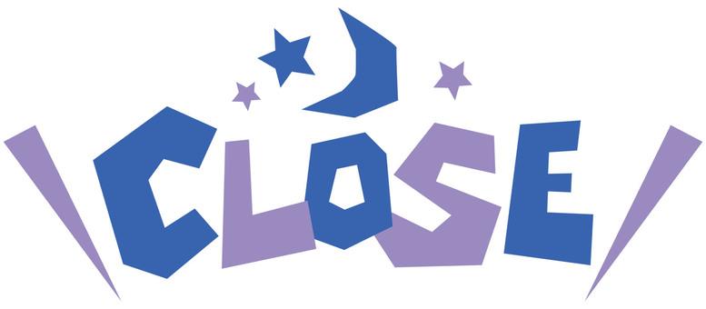 CLOSE Closed ☆ Pop body ☆ English letter icon