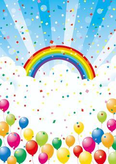 氣球和天空背景素材06