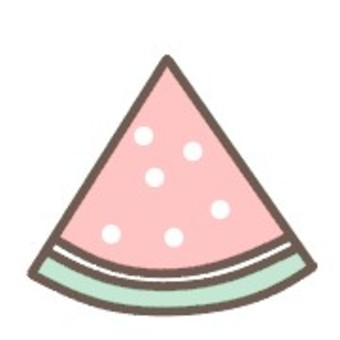 Watermelon Fruit Dot Simple Cute