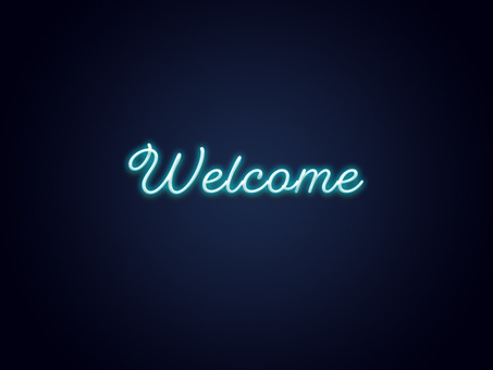 Welcomeネオンサイン