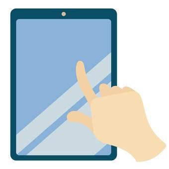 手指操作平板電腦