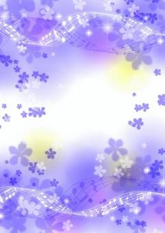 Violet and staff background
