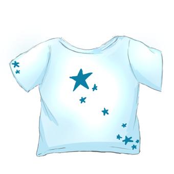 Tシャツ 流れ星