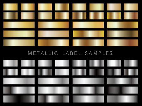 Metallic label sample set