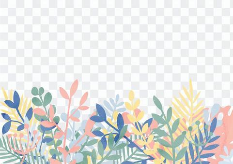 열대 이미지의 식물의 테두리 3